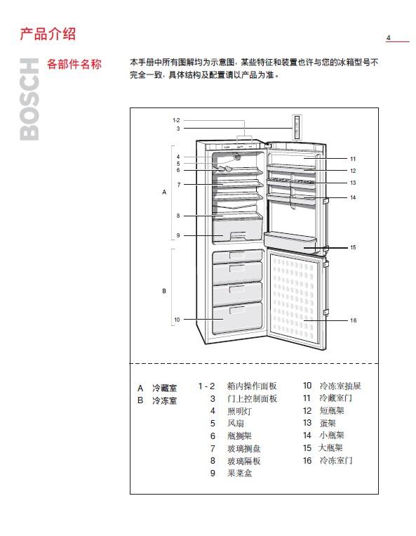 博世bcd-226冰箱使用说明书
