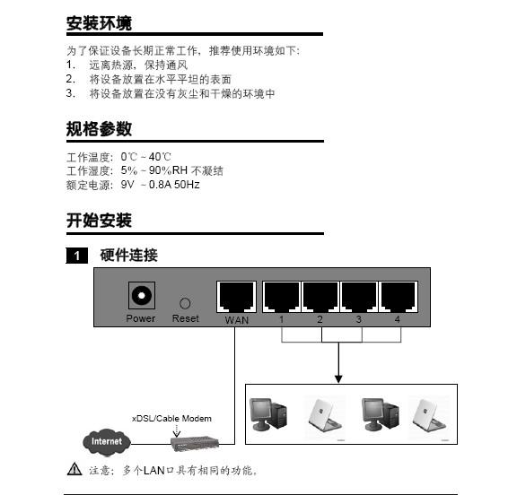 水星网络MR808型高性能宽带路由器用户手册说明书