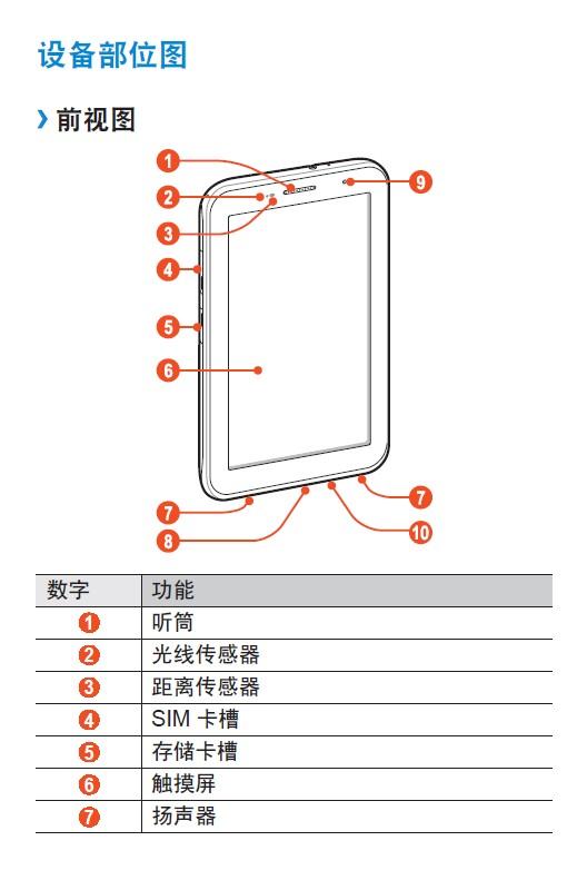 三星gt-p3100手机说明书