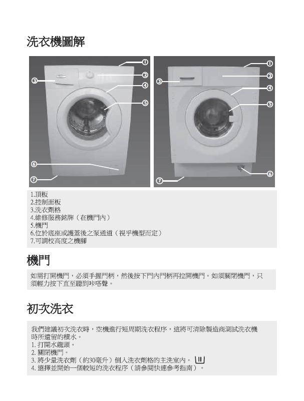 惠而浦 12嵌入式二合一洗衣干衣机 用户手册