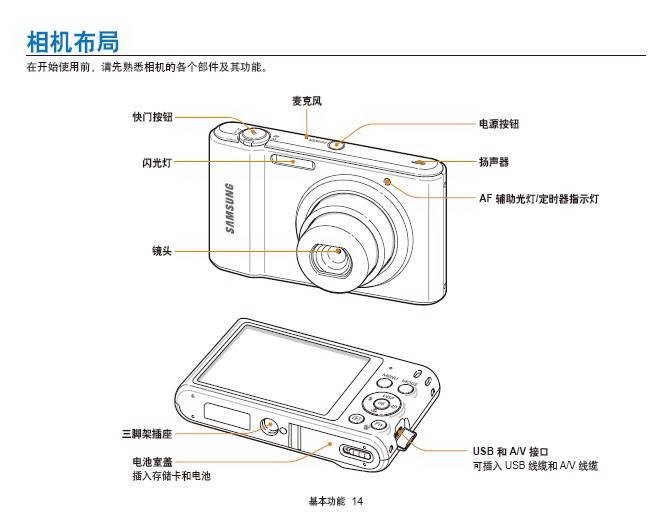 三星 ST66数码相机 说明书