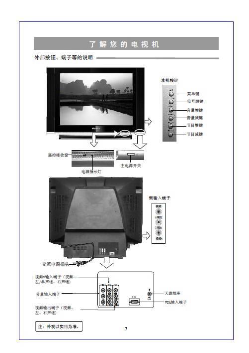 海信hdp290bd彩色电视机使用说明书