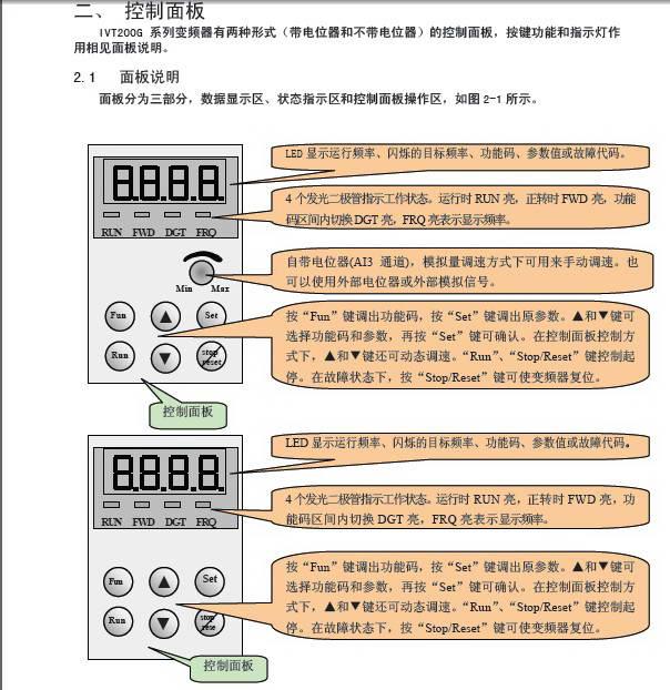 南大傲拓矢量控制变频器IVT200G-0022T3使用说明书