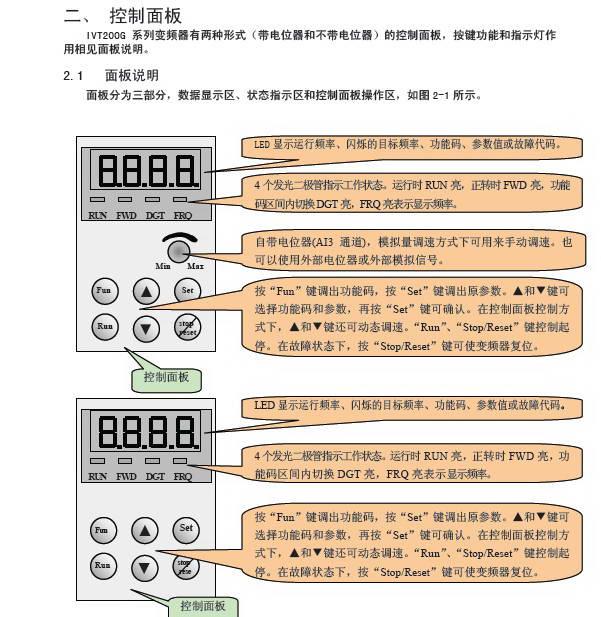 南大傲拓矢量控制变频器IVT200G-0002S2使用说明书