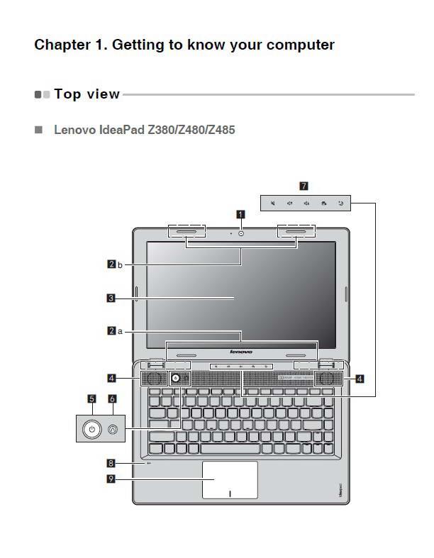 联想IdeaPad Z485笔记本电脑说明书