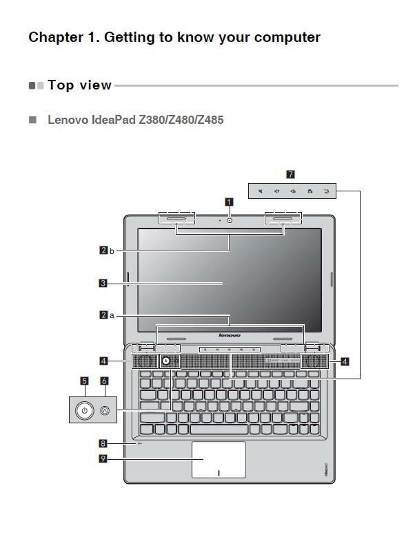 联想IdeaPad Z480笔记本电脑说明书