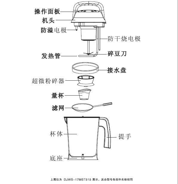美斯特djws-15mst514豆浆机使用说明书