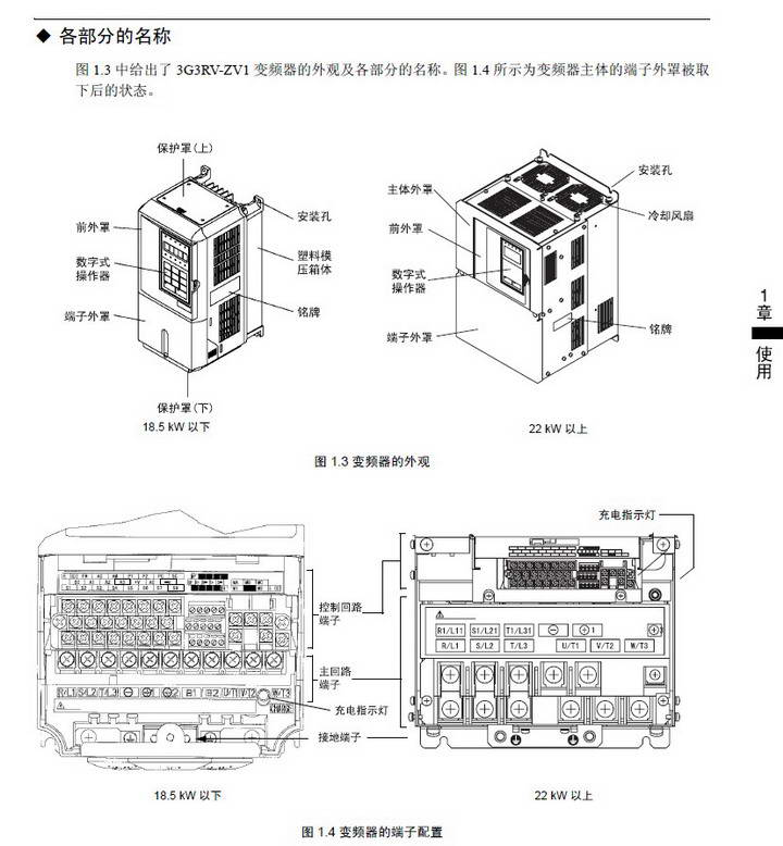 欧姆龙3G3RV-A4185-ZV1变频器说明书