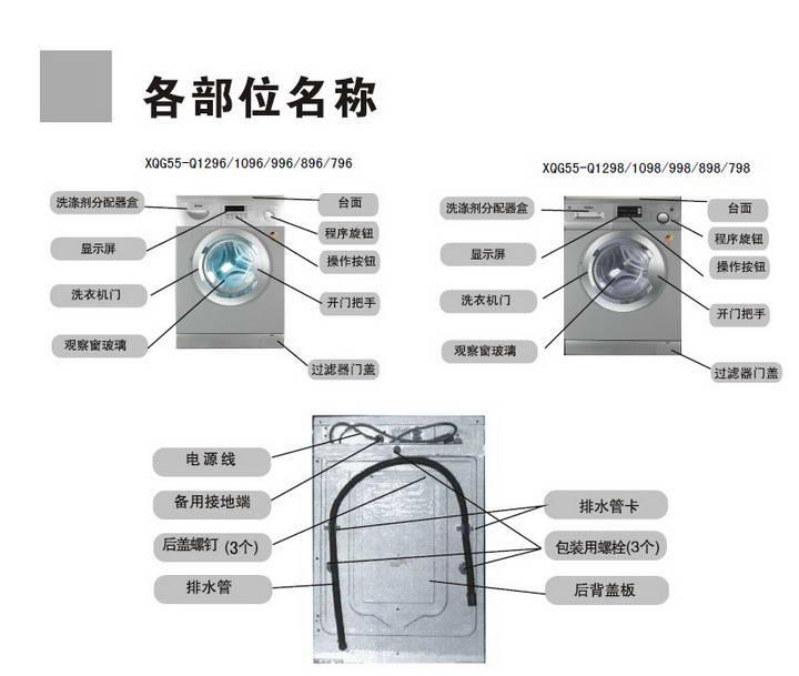 海尔xqg55-q896洗衣机使用说明书