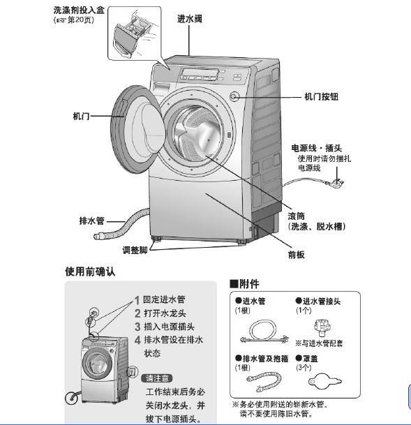 松下XQG60-V65NS洗衣机说明书