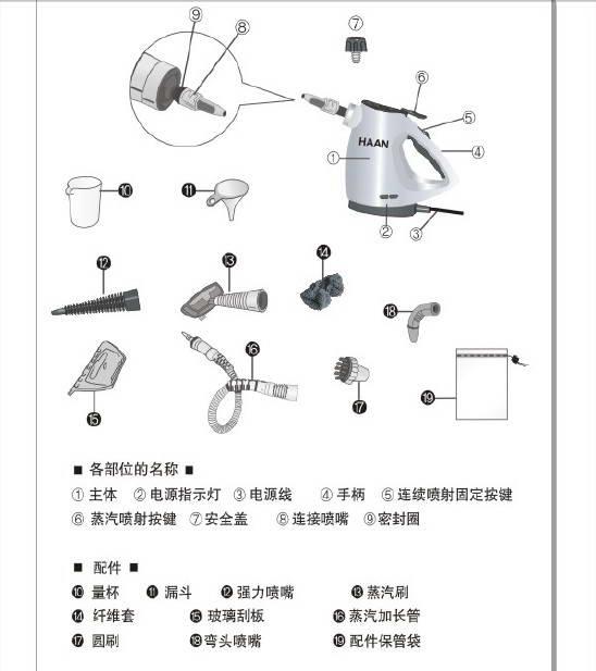 韩京姬HSC-180蒸汽清洁器说明书
