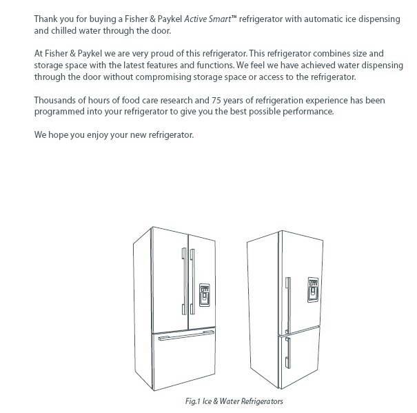 斐雪派克E442BRXFDU2冰箱说明书