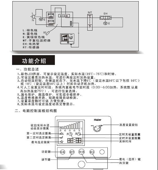 海尔FCD-XJTHA100-Ⅱ电热水器使用说明书