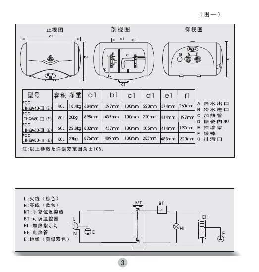 海尔fcd-jthqa60-Ⅲ(e)电热水器使用说明书图片