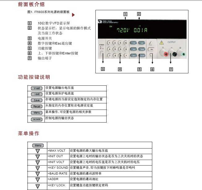 IT6831直流可编程电源使用手册