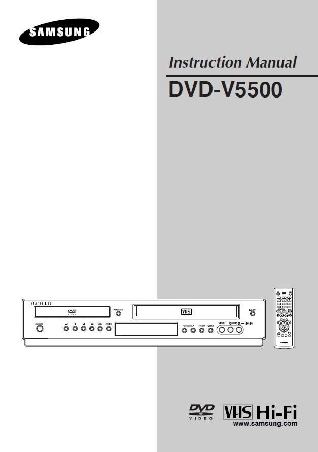 三星DVD-V5500播放机安装说明书