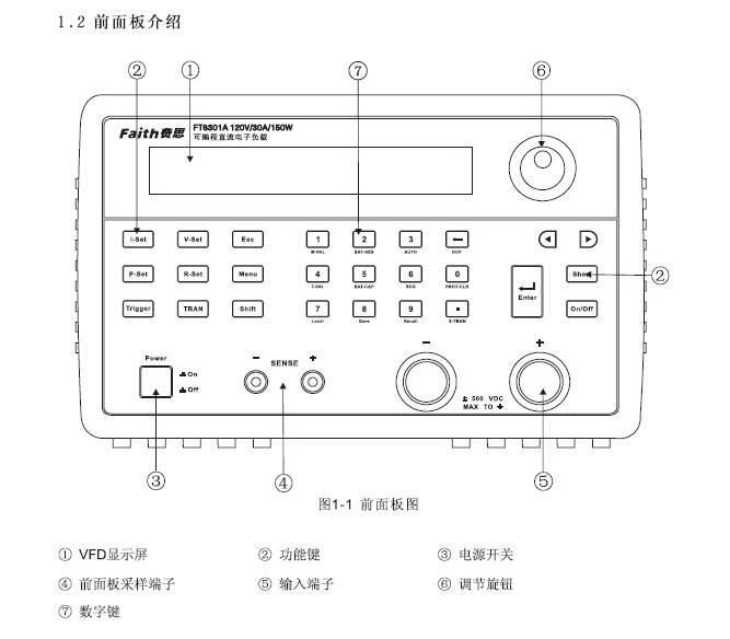 费思FT6305A可编程直流电子负载使用手册