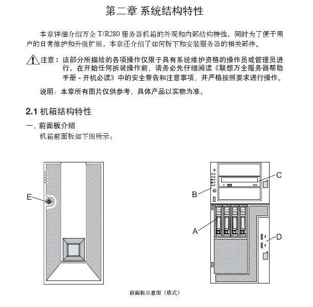 联想TR280 G2系统使用手册