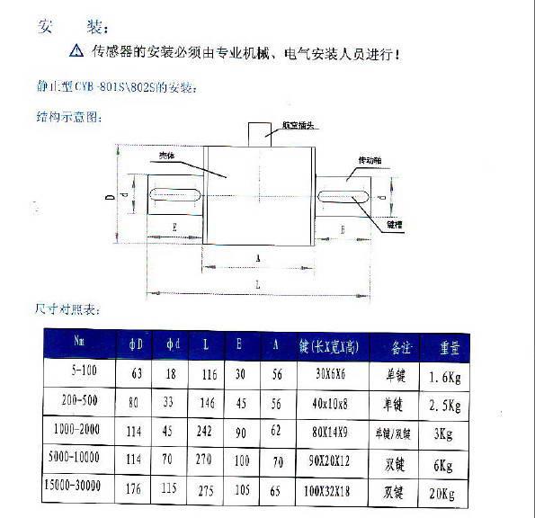 威斯特CYB-803S传感器使用手册