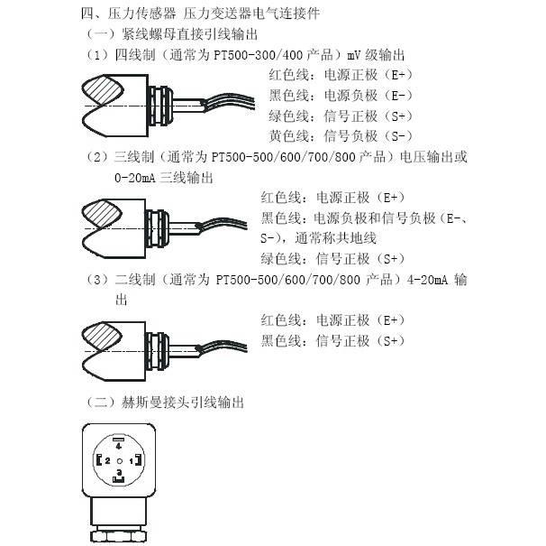 普量PT500-300压力传感器压力变送器说明书