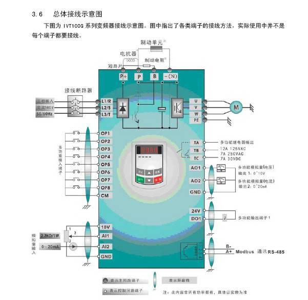 南大傲拓IVT100G-4000T3变频器说明书