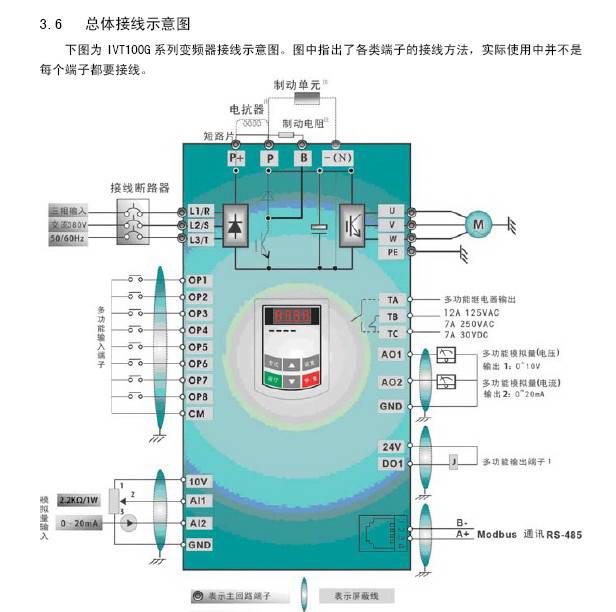 南大傲拓IVT100G-0007T3变频器说明书