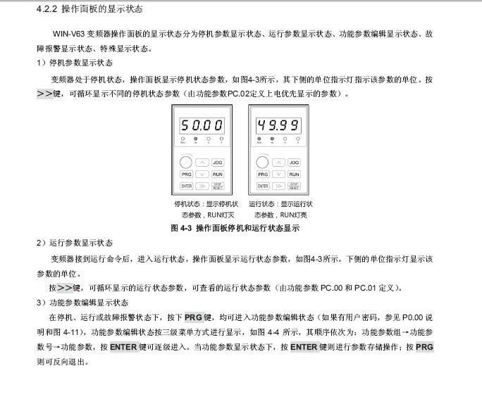 微能WIN-V63-090T4矢量变频器使用说明书
