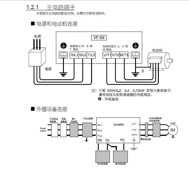 东芝VFS9S-2022PL变频器使用说明书
