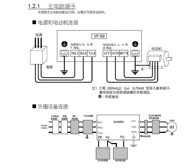 东芝VFS9S-2007PL变频器使用说明书