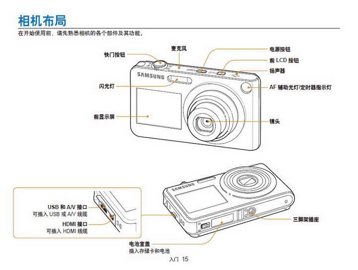三星ST600数码相机使用说明书