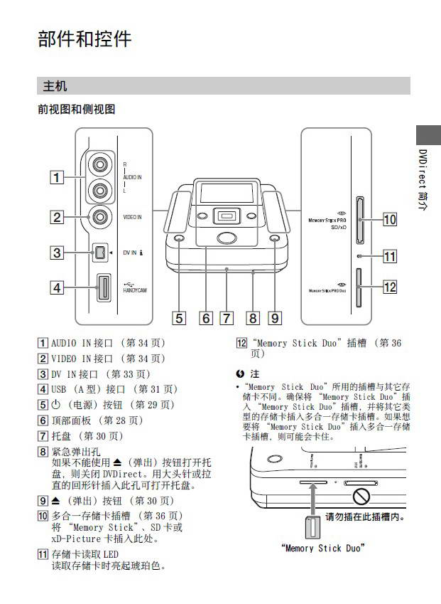 索尼刻录机vrd-mc6型说明书