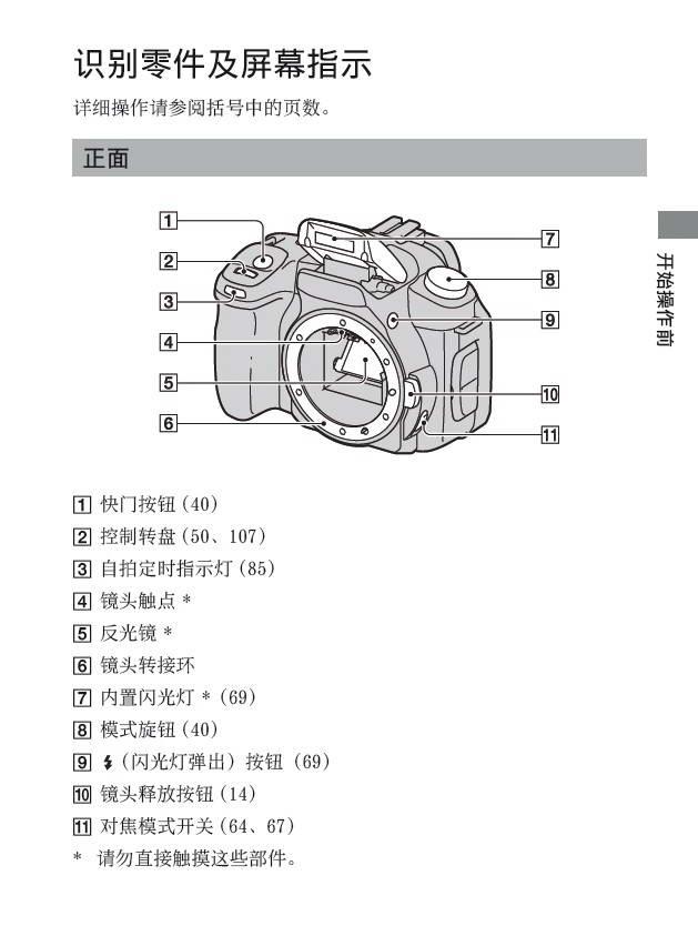 索尼数码相机DSLR-A350型说明书