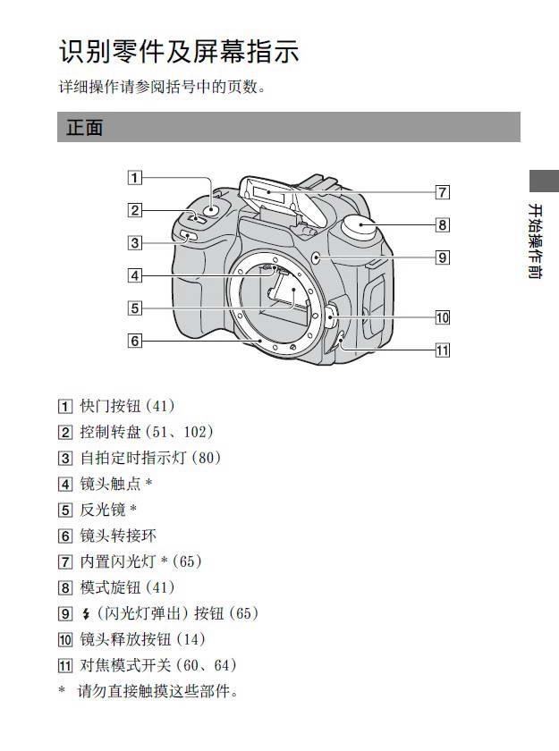 索尼数码相机DSLR-A200型说明书