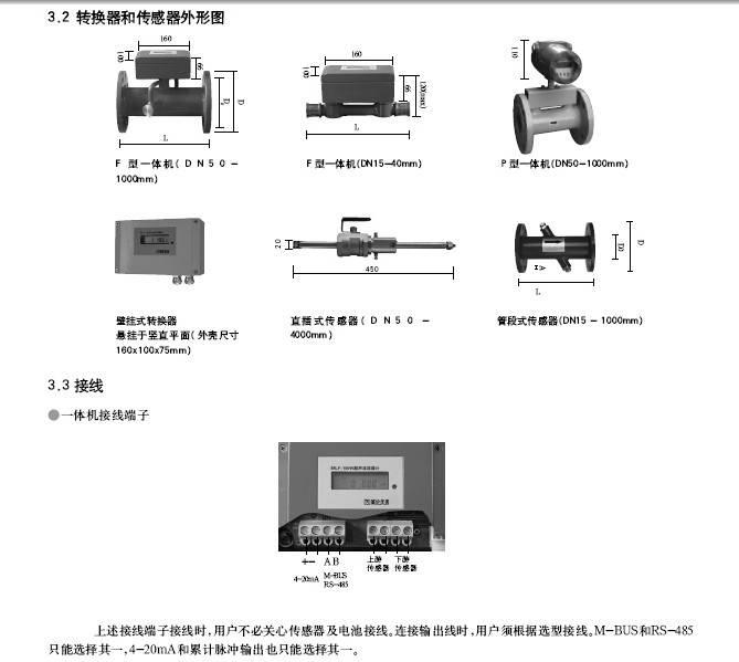 美伦MLF-101W平视一体超声流量计使用说明书