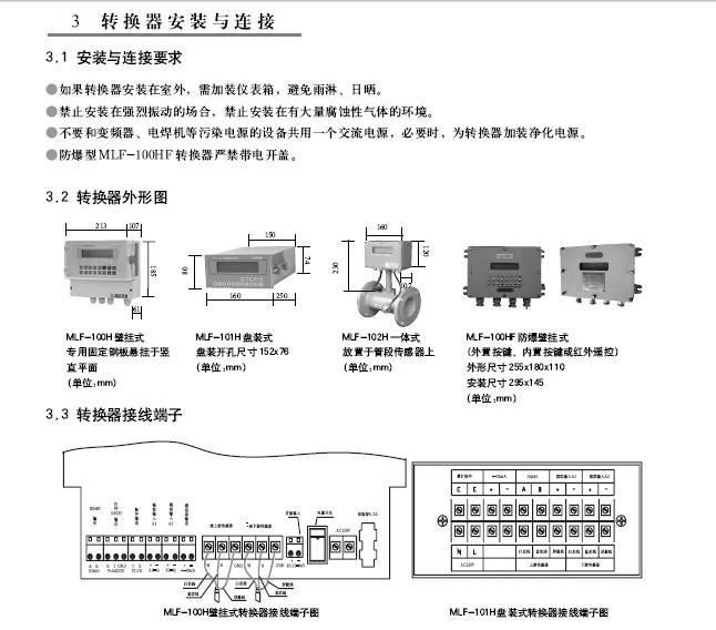 美伦MLF-100H壁挂式超声流量计使用说明书