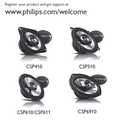 飞利浦CSP6910扬声器用户手册