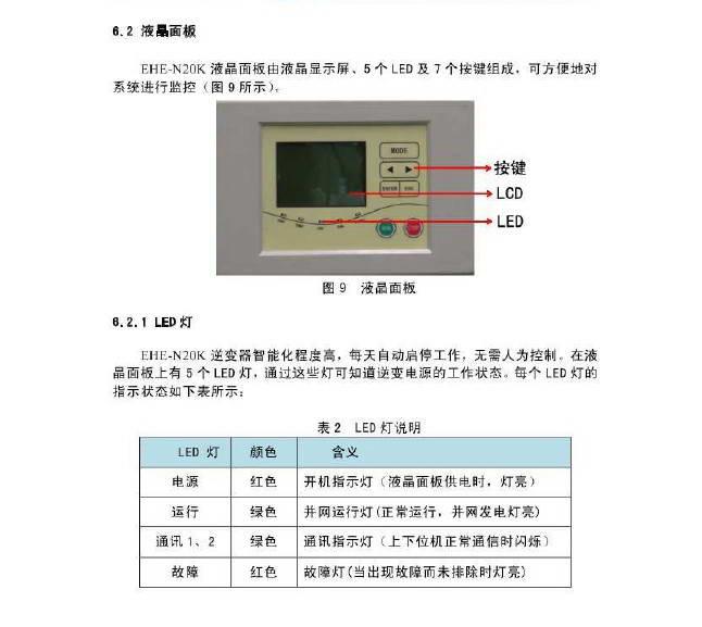 颐和新能源EHE-N20K光伏并网逆变电源用户手册