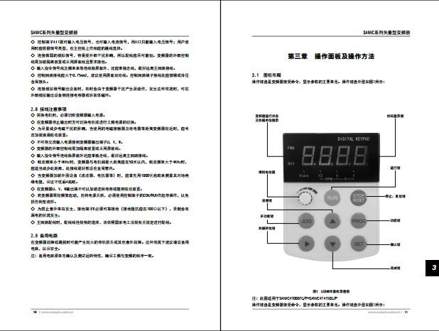 三品SKJ160K-H\P-3P型变频器说明书