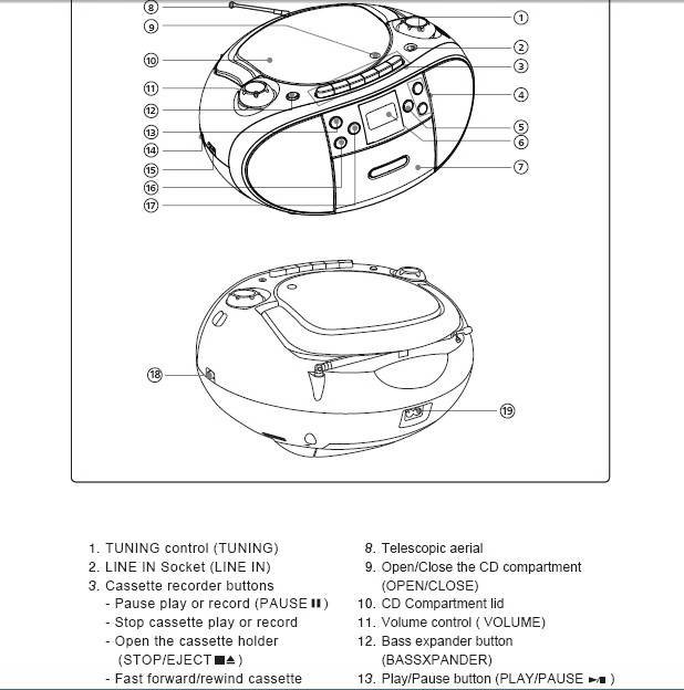 美捷BM81便携式CD播放器说明书