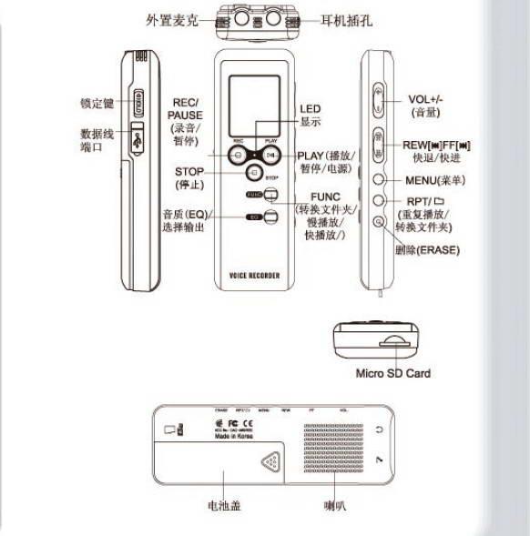 韩国现代录音笔HYV-B660说明书