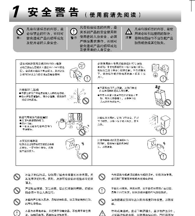 海尔BCD-252WLDPN电冰箱使用说明书