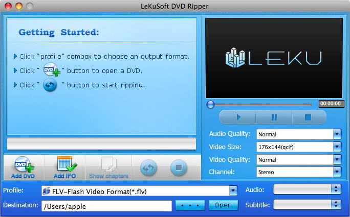 LeKuSoft DVD Ripper for Mac
