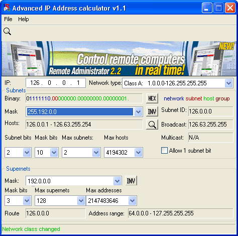 Advanced IP Address Calculator