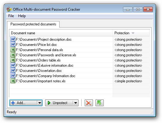 Office Multi-document Password Cracker