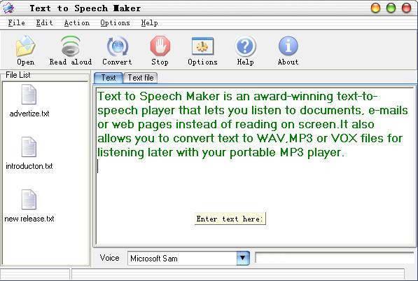 Text to Speech Maker