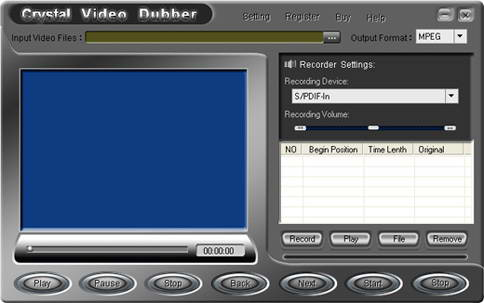 Crystal Video Dubber