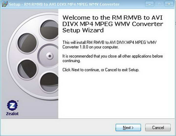 Zealot RM to VCD SVCD DVD Converter