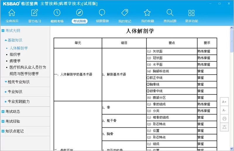 2016版主管技师考试宝典(病理学技术)