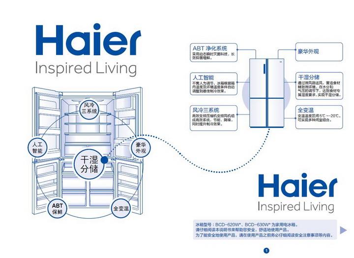 海尔BCD-620WDVC电冰箱使用说明书