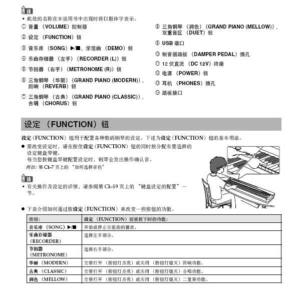CASIO PX-135BK数码钢琴用户说明书